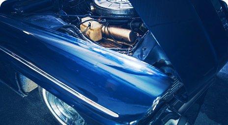 classic car closeup