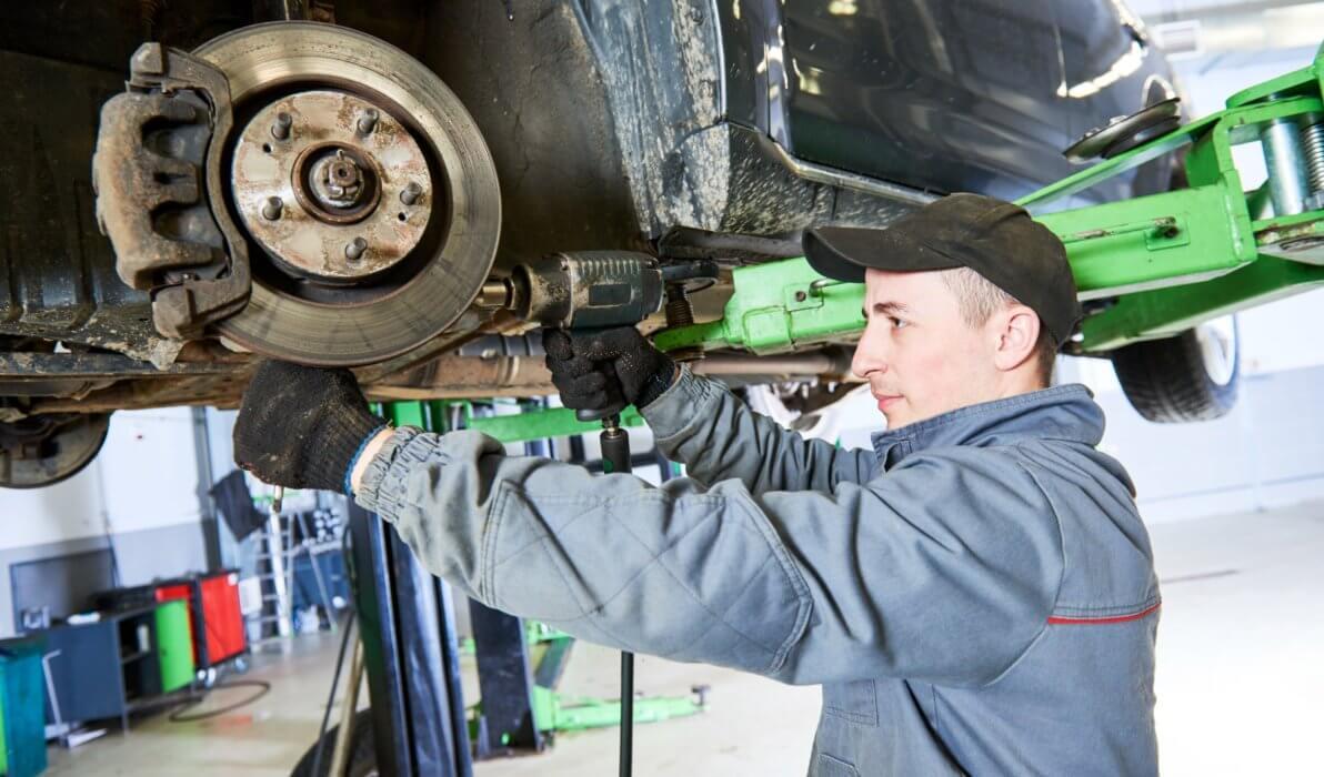 portrait of a car mechanic working