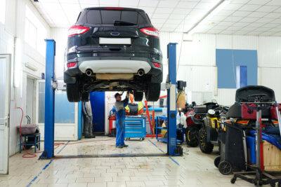 car mechanic doing his work